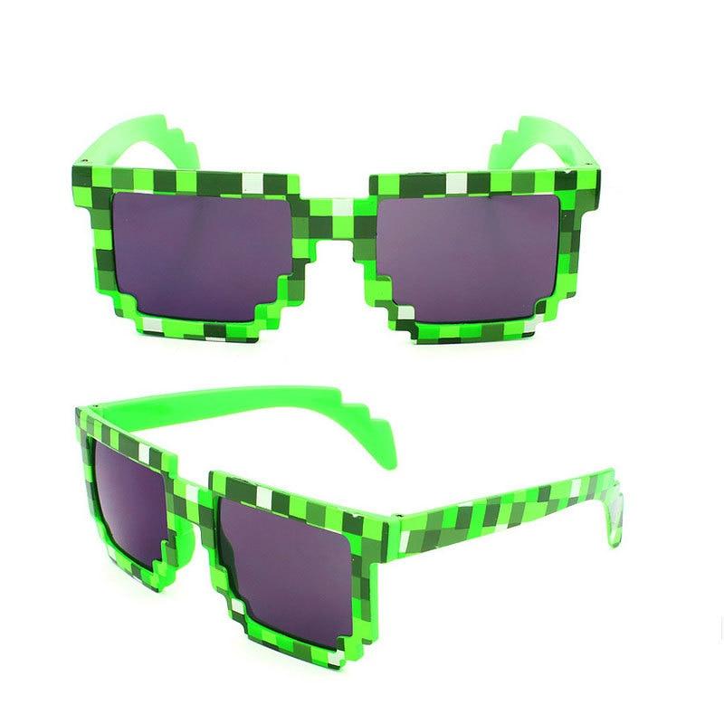 406f7407db4b6 Pixel Glasses Deal with It Sunglasses Sun Points Green Blue Purple Wholesale