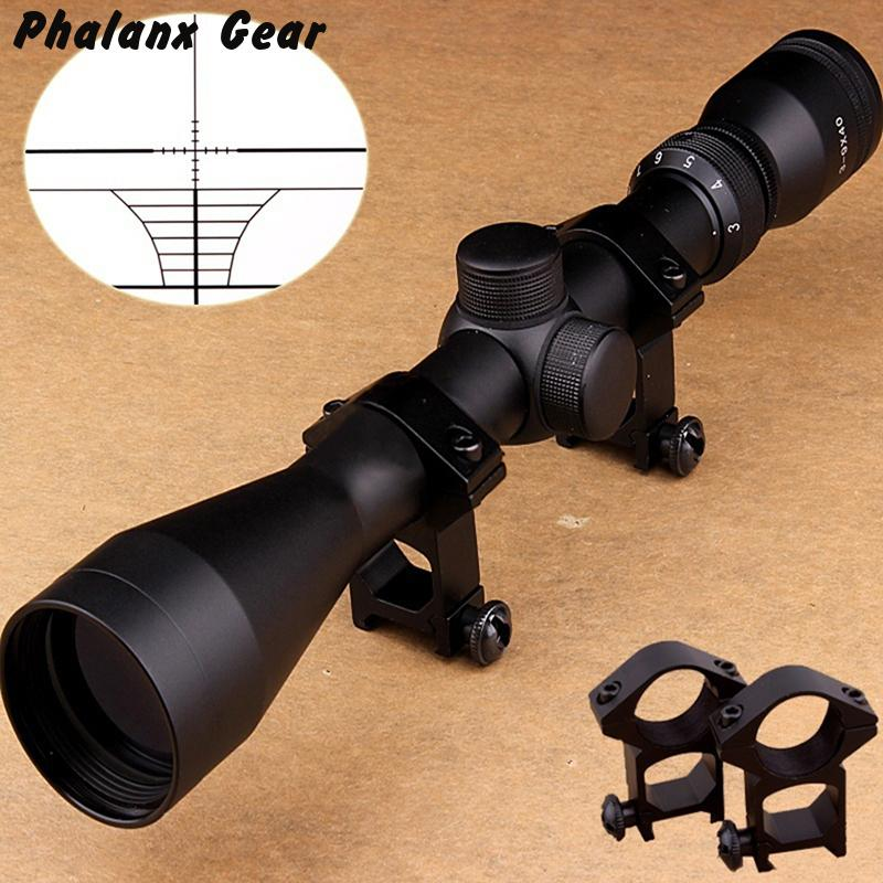 3-9x40 Rifle Sight Scope Tactical Optical Dot Verlichte Retische Voor Hunting Rail Mounts Red Dot Sight Riflescope Hunting