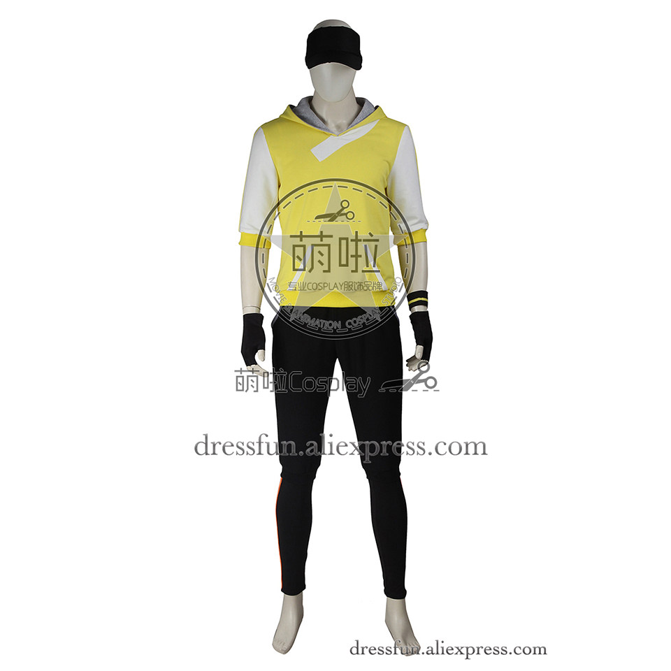 Pokemon GO Cosplay Costume Monster Trainer Costume Fashion Yellow Hoodies Uniform Suit Casual Wear Comfortable Halloween