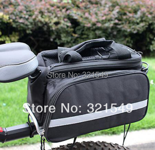 2013 Bike Travel Bicycle Rear <font><b>Seat</b></font> Pannier Bag Pouch AB2010 With <font><b>Rain</b></font> Cover New Cycling