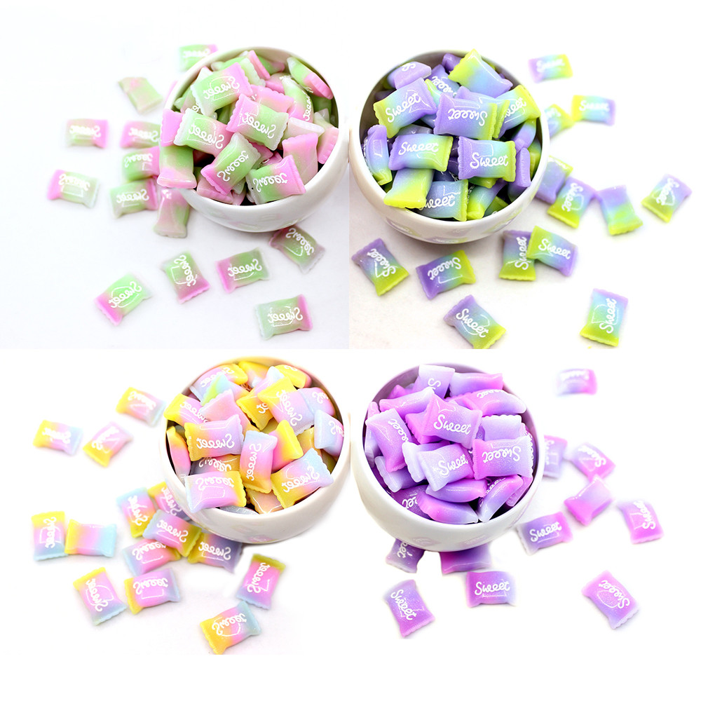 5Pcs Slime Charms Sweet Candy Sugar Bead For Slime Toys Children Addition Modeling Clay Polymer Lizun DIY Accessories Model Tool