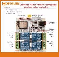 Szybko Uwalnia Statek LinkNode R4: dla Arduino-kompatybilny przekaźnika bezprzewodowego kontrolera/ESP-12f ESP8266 Moduł WiFi 4 Kanał przekaźniki