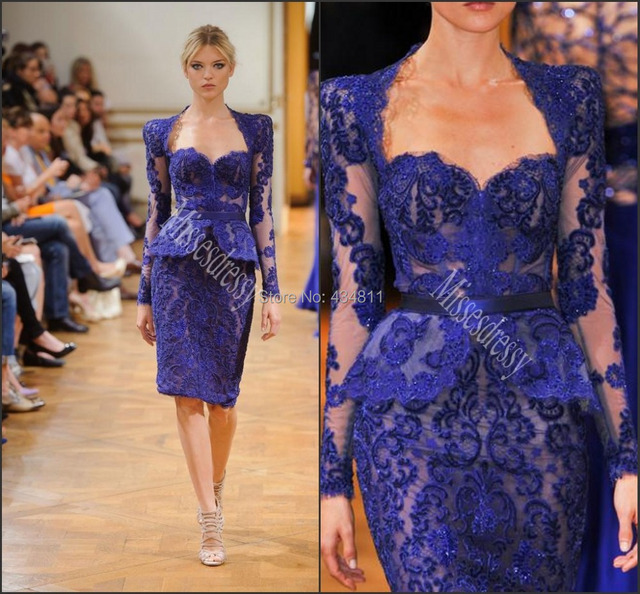 2180c8dbe0 2014 Fall Zuhair Murad Evening Gown Beaded Sweetheart Beautiful Applique With  Lace Jacket Knee Length Mother Of The Bride Dress