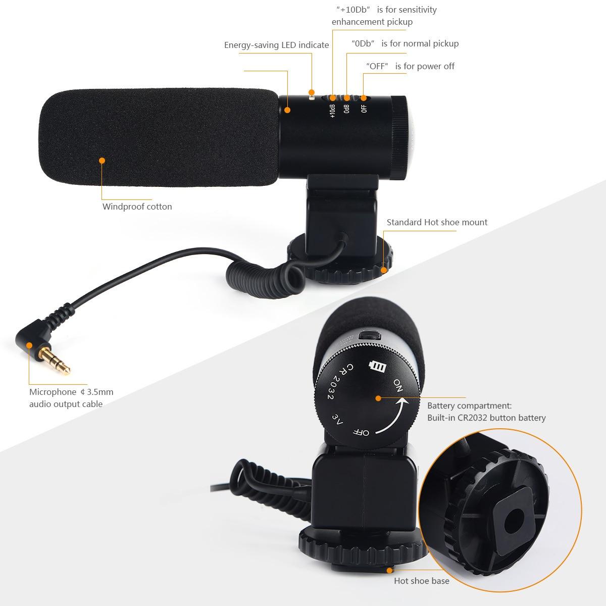 K&F CONCEPT professionaalne DSLR kaameramikrofon Intervjuu - Kaasaskantav audio ja video - Foto 4