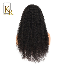 Brazilian Remy Black Curly Front Human Hair Wigs For Women