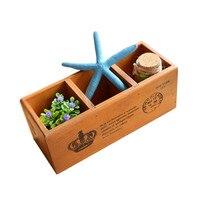 Best Quality Multifunction Wooden Storage Box Creative Pencil Vase Desktop Storage Case Office Desk Organizer
