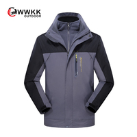 Couple 2019 Jacket Three in one Two piece Suit Thin Hooded Trend Mayo Color Quick Drying Anti UV cycling detachable hat LOVERS