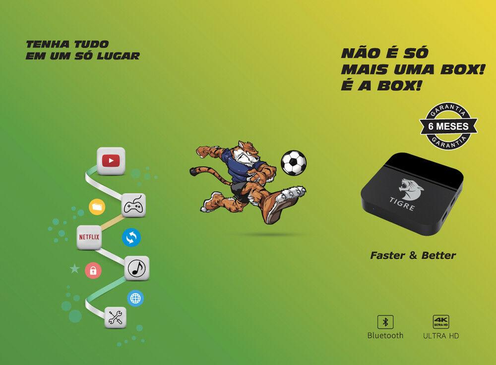 FLASH SALE] Tigre tv box HTV6 BOX Brazilian Portuguese Internet IPTV