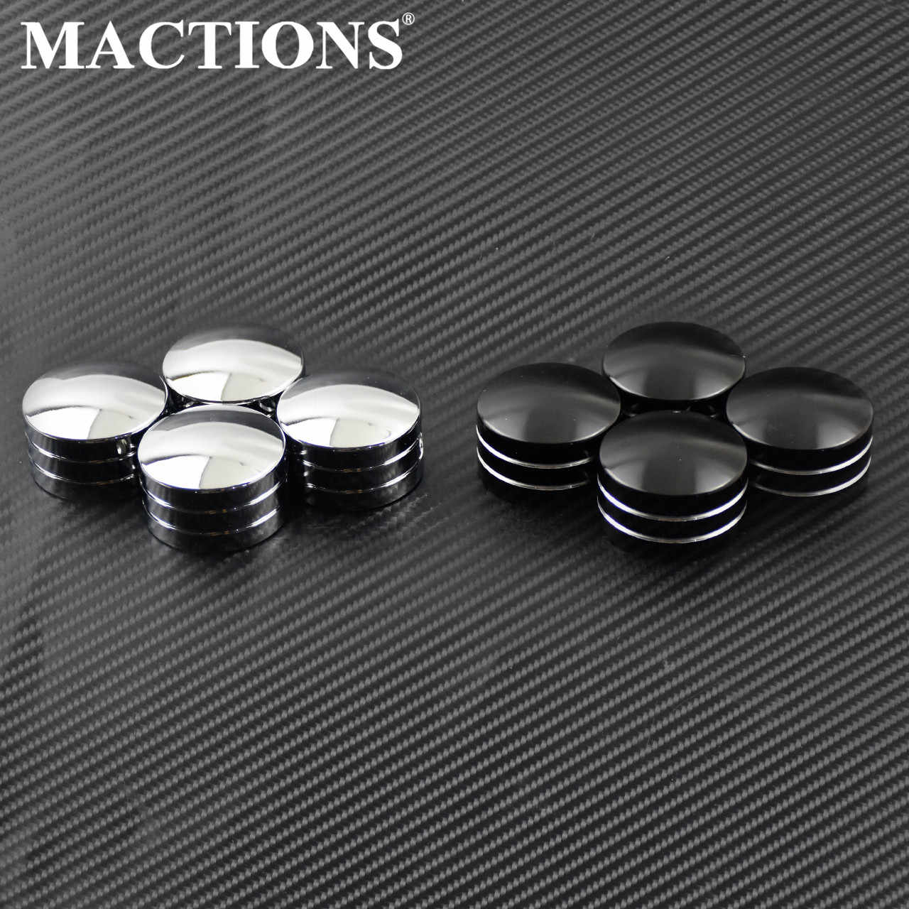 Black motorcycle Darkside Cross CNC Chain Inspection Cover