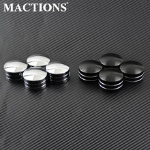 4pcs Moto Bougie Spark Head Head Capuchon Plug Cover Pour Harley Sportster 883 1200 XL XR Fer 1986-2017 Touring Double Cam EVO 1999-2014 2015 2016 2017(China)