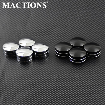 4pcs Motorcycle Spark Cap Plug Head Bolt Plug Cover For Harley Sportster 883 1200 XL XR Iron Touring Twin Cam EVO 1999-2016 2017 goofit blue high performan motorcycle spark plug a7tc h058 034