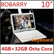 10.1 pulgadas 3G 4G LTE tablet pc Octa core 1280*800 5.0MP 4 GB 32 GB Android 5.1 Bluetooth GPS de la tableta 10 con teclado