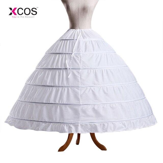 415fe44b1 € 12.46 7% de DESCUENTO|XCOS 6 Hoop enaguas para vestido de fiesta vestido  de novia 60 110 cm de diámetro ropa interior Crinoline accesorios de ...