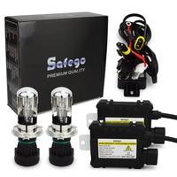 Safego 1 компл. H4 55 Вт би ксенон комплект 55 Вт тонкий балласт преобразования фар комплект H4-3 4300 К 6000 К 8000 К 10000 К 12000 К 12 В DC