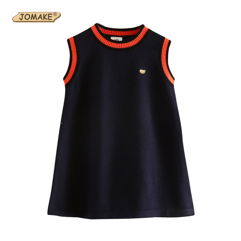 New Autumn Girls Dress Knitted Kids Dresses For Girls Vest Sweater School Baby Girl Clothes New Fashion Brand Children Clothing little maven kids brand clothing 2017 new autumn baby girls clothes cotton bird embroidered girl a line stripped dresses s0262