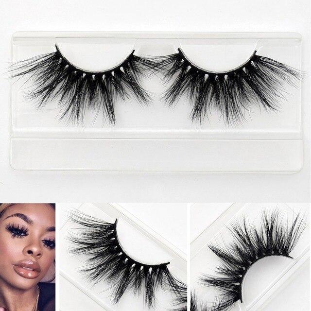 Visofree 25mm lashes 3d mink lashes handmade full strip lashes crisscross dramatic mink eyelashes full volume E80 false eyelash