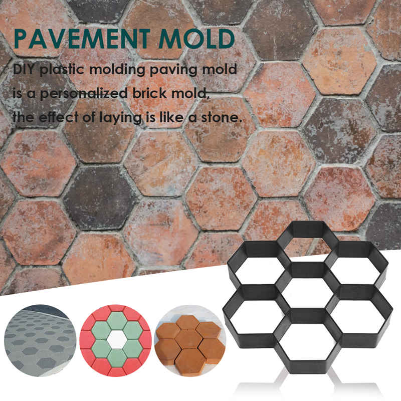 cheapest DIY Patio Walk Maker Stepping Stone Concrete Paver Mold Reusable Path Maker Mold Garden Paving Stone Molds 30 30cm