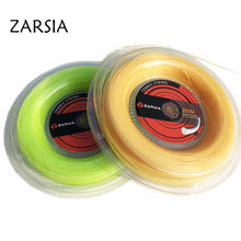 (2 Reels/lot) ZARSIA soft Nylon tennis string Elastic tennis rackets string comfortable tennis strings 1.30mm 200M 55-60LBS(China)