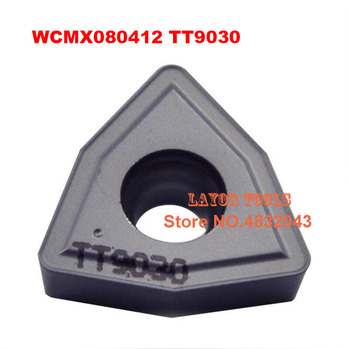 WCMX080412 TT9030, 10pcs Genuine Original Cnc Lathe Dedicated Blade,suitable For Outer Circle, Inner Hole, End