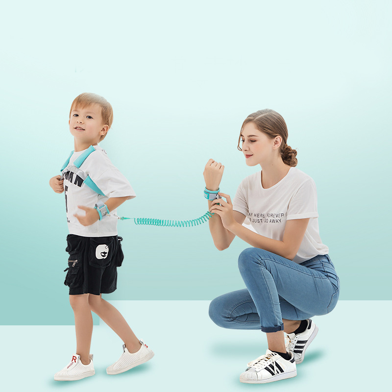 2 In 1 Toddler Leash Anti Lost Wrist Link Kid Harness Wrist Leashes With Safty Lock BM88