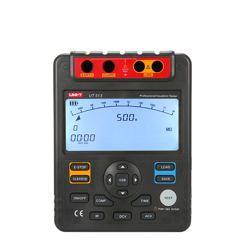 Uni T Ut513 Digital Insulation Resistance Tester Test Meter Megger 1m-1000g Ohm 5000v Usb Interface mastech ms5215 high voltage digital insulation resistance tester megometro megger 5000v 3ma temp 10 70c