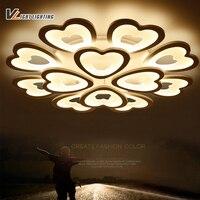Remote Control Modern Led Ceiling Lights For Living Room Bedroom Indoor Lighting Home Decorative 85 265V