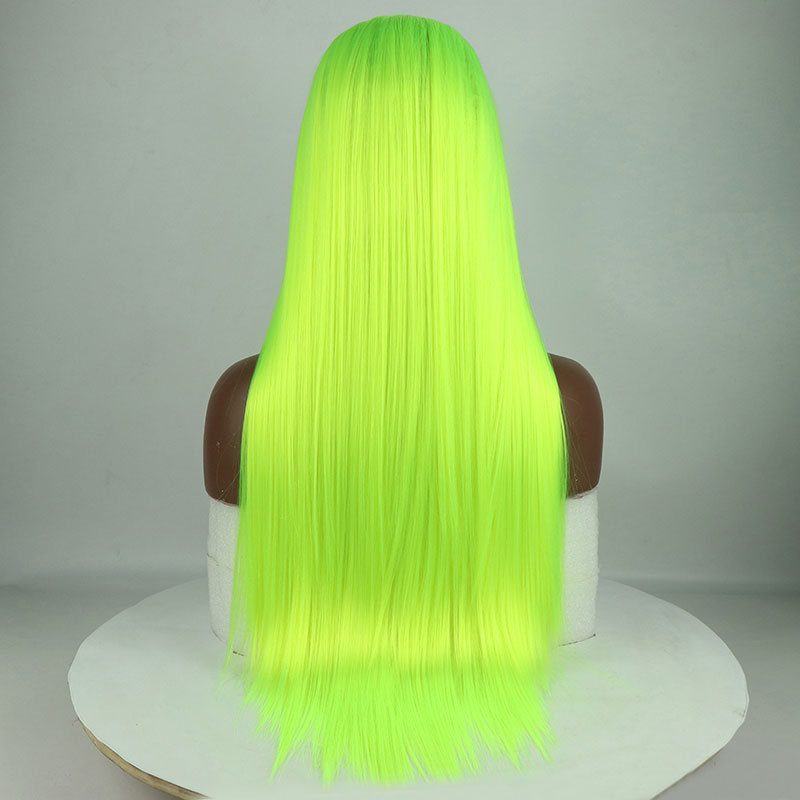 Image 3 - Bombshell Synthetic Lace Front Wigs Light Green Straight Cosplay Drag Queen Party Wig Heat Resistant Fiber Hair-in Synthetic Lace Wigs from Hair Extensions & Wigs