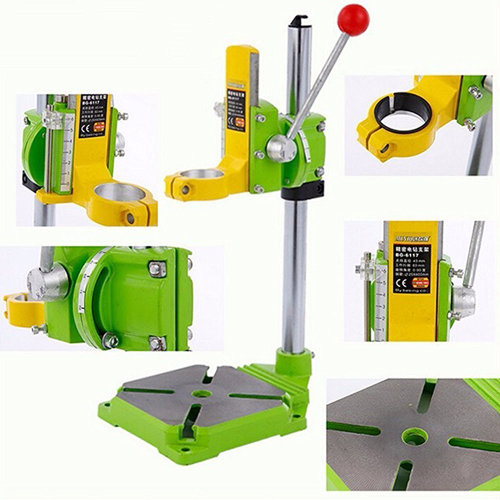 Image 5 - AMYAMY Electric power Drill Press Stand table for Drills Workbench Clamp for Drilling Collet 35 43mm 0 90 degrees ship from USA-in Power Tool Accessories from Tools
