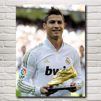 Cristiano Ronaldo Poster Football Madrid Wall World Cup Soccer Silk Art Posters 12x16 18x24 24X32 Inches