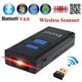Frete Grátis! MJ-2877 2D Barcode Scanner USB de Bolso Portátil Sem Fio Bluetooth V4.0 QR Bar code Reader Para Android IOS janelas