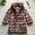 FF Brand Super Long Fur Coat Winter Women Faux Fox Fur Coat Stand Collar Warm Luxury Fur Coat Jacket Womens Fake Fur Jacket
