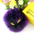 18cm Real Fox Fur Pom Poms Bag Bug Little Monster Bag Bugs Charm Genuine Fox Fur Pompom Keychain Luxury Car Luxury Pendant