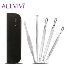 Extractor-инструмент acevivi прыщ комедона лечения черноголовых акне пятна remover kit профессиональный