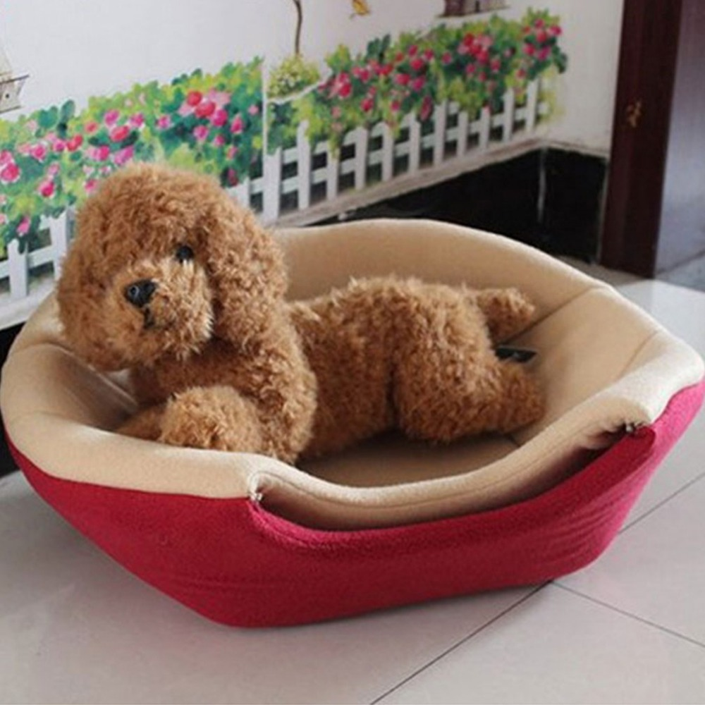 2017 Foldable Soft Warm Cat Dog Bed House Pet Cave Puppy Sleeping Mat Pad Nest Winter Nest Kitty House Cats Bed M/L 2 Colors