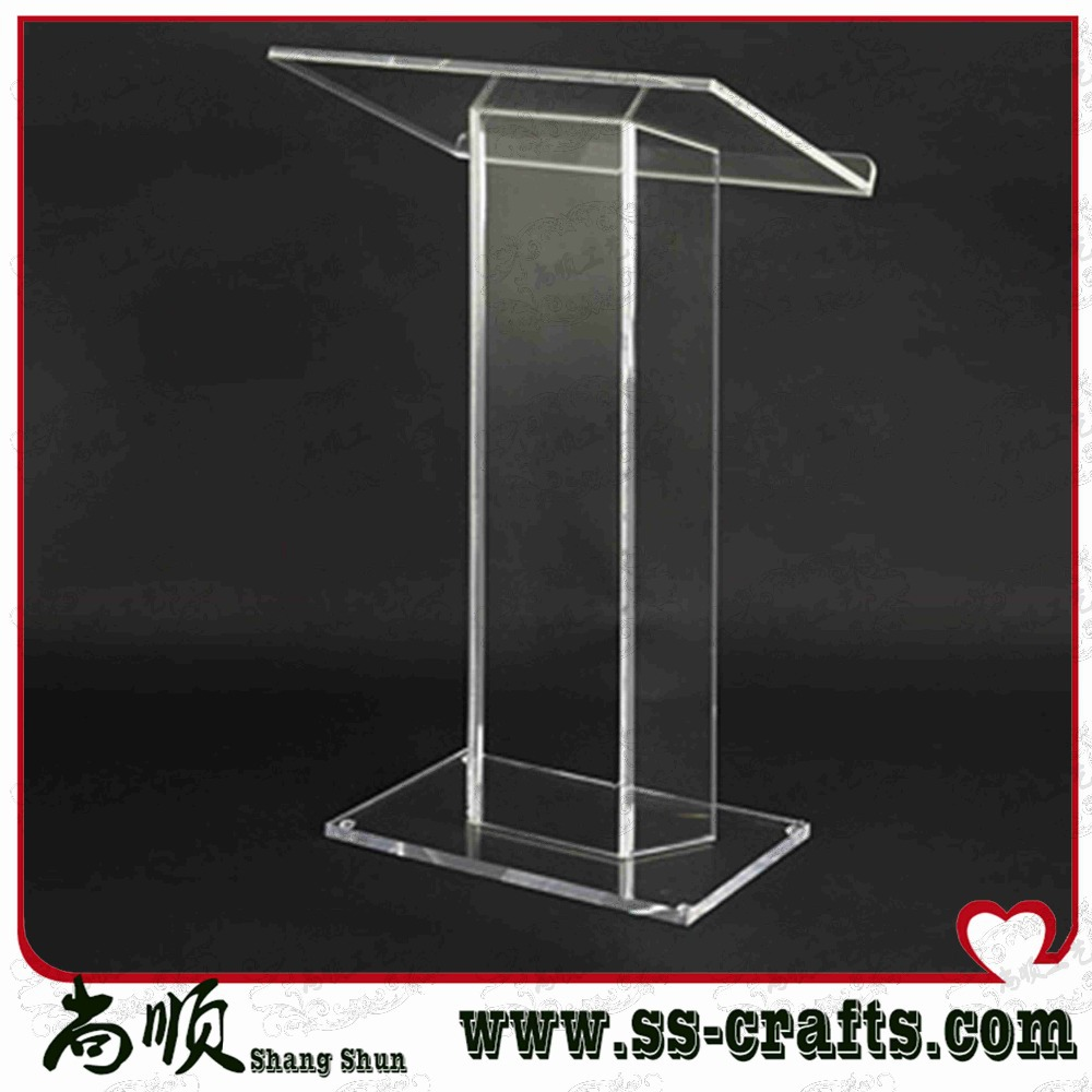 Hot Sale Customized Logo Design Acrylic Lectern;acrylic Table Top Lectern Plexiglass