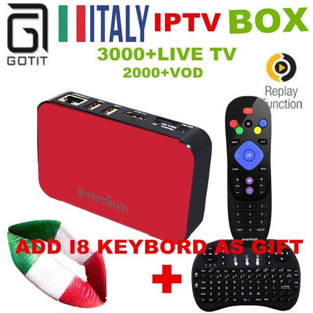 Italy IPTV Ipremium TVONLINE Pro+Super Smart IPTV Box H.265 4K UHD Albania Germany French Turkey UK PayTV Hotclub Adult Channel