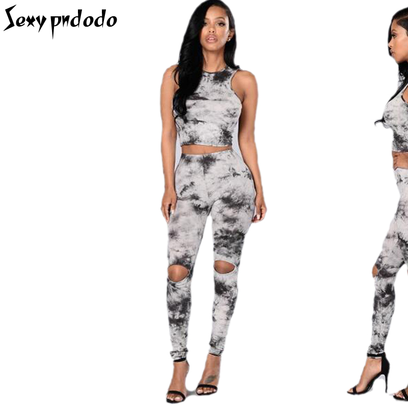 Womens 2 Two Piece Sets 2016 With Crop Outfit Set Womans Sexy Long Pants And Top Outfit Poleras Bodys Elastico Conjuntos de saia