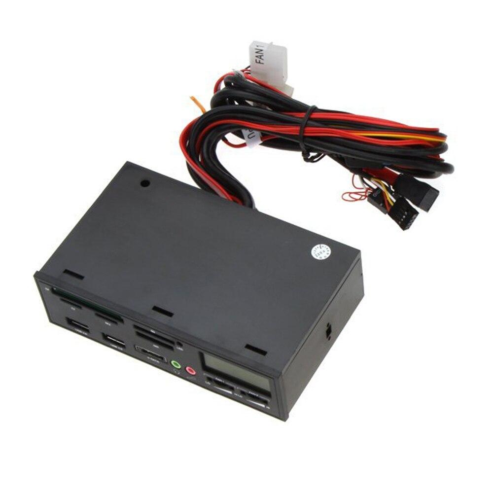 5.25 USB 3.0 e-SATA All-in-1 PC Media Dashboard Multi-function Front Panel Card Reader I/O Ports ch 528u3l pci e to usb 3 0 5 25 computer cd rom drive media dashboard black