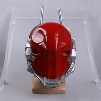 Hot Sale Batman Arkham Knight Cosplay Mask Helmet Red Green Hood Latex Mask Halloween Cosplay Props Masks