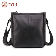 JOYIR Genuine Leather Mens Crossbody Bag Casual Business Messenger Vintage Shoulder Travel Handbags