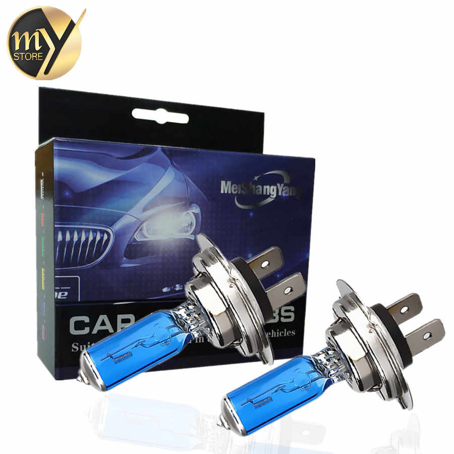 2pcs H7 100W Halogen H1 H3 H4 H11 9005 HB3 9006 HB4 Halogen Car Headlight Bulbs Super Bright Auto lamp 12V Headlamp White