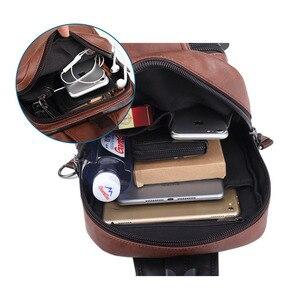 Image 4 - Zebella Brand Men Shoulder Bag Vintage Men Crossbody Bag Men Chest Bags Casual Fashion PU Leather Men Messenger Bag
