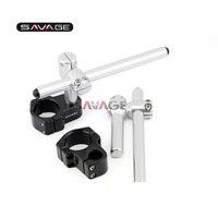 For 50mm Aluminum CNC Motorcycle Pro Caken Performance Stunt Adjustable Shift Clip ons Handle Bars