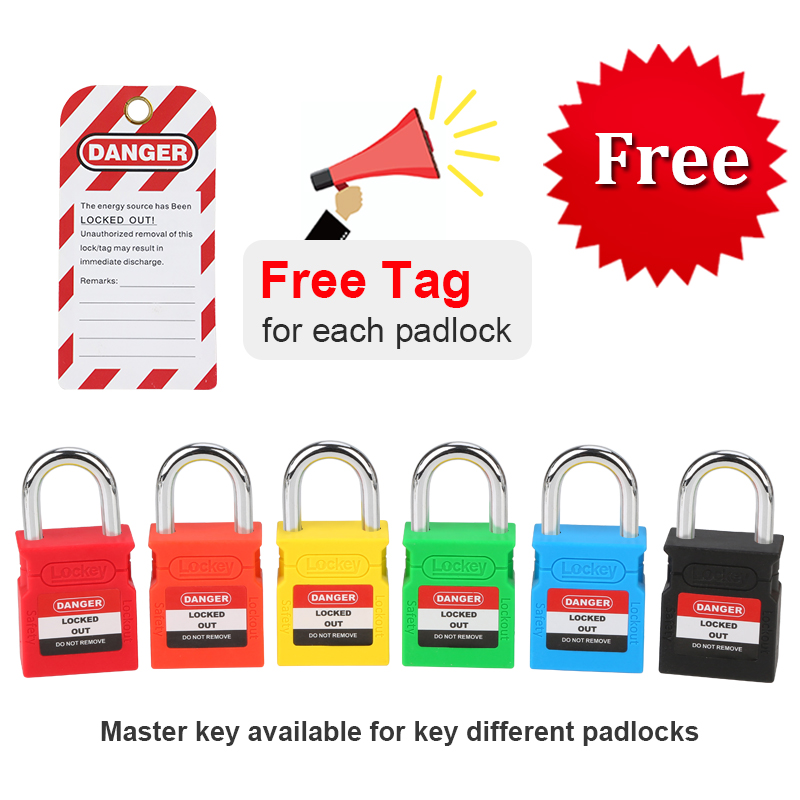 Safety Lockout Padlock Lock Keyed Different Safe Security Chrome-Plated 25mm