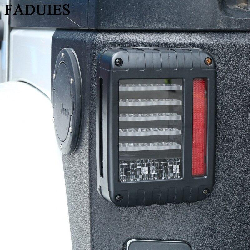 FADUIES светодиодный задний фонарь для Jeep Вранглер JK, тормоза / заднего хода / поворота-Лампа сигнала парковка стоп Лампа DRL дневного света