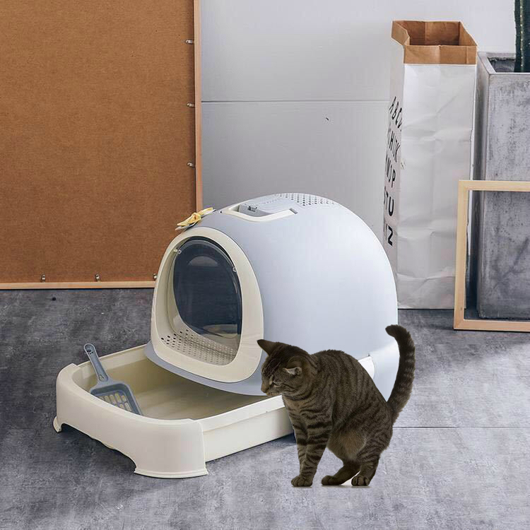 Pets Cat Litter Box Large Cat Toilet Anti splashing Scoop Free with Drawer Deodorant Training Kit Cat Dog Supplies Rabbit Potty