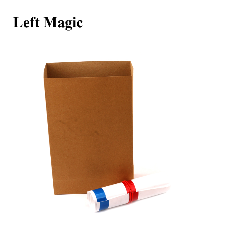 Appearing Big Straw 1.25m - Magic Tricks Straw From Empty Bag Close Up Stage Magic Props Gimmick Props Illusion Comedy Toys