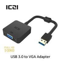ICZI USB 3.0 VGA Video Ekran Harici Kablo Adaptörü 1080 P @ 60Hz kadın için erkek için PC Dizüstü Windows 10/8.1/8/7/XP