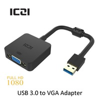 ICZI USB 3 0 To VGA Adapter Converter Multi Monitor Adapter Support Max Resolution 1080P For