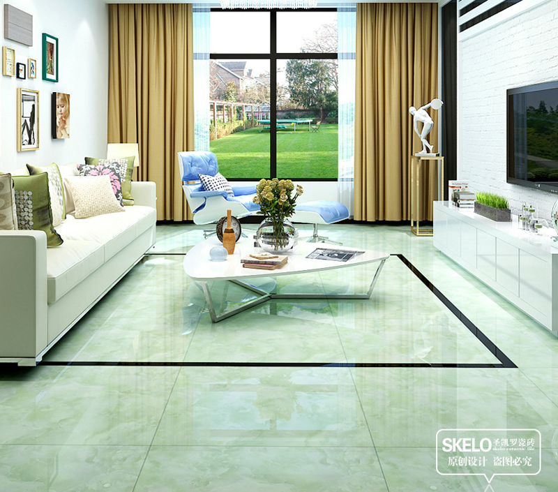 800800mm foshan floor tiles green ceramic tiles glossy living room polished glazed wall tile background indoor interior tiles on aliexpresscom alibaba - Green Tiles For Living Room Floor